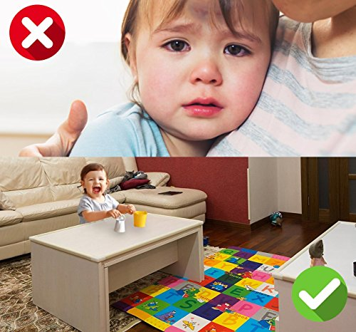 Edge Guard & Corner Protector - Extra Long 22.0ft [20.4ft Edge + 8 Corners] with Baby Proofing, Home Safety Furniture Bumper and Table Edge Guards Child Safety [Brown] by Hoobii (Image #9)