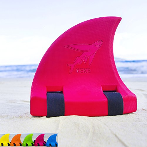 (Swim Float for Kids, Shark Fin, Learn to Swim, Safety and Training, Fun Pool Toy Trainer - Red)