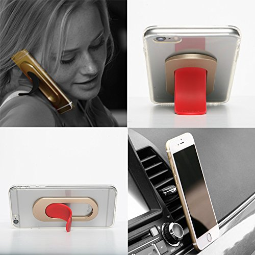 Car Mount Holder, Smart Phone Stand for Any Phone. I-Series Red Tougue-Gold Sleeve. Ultimate Smart Phone Accessory