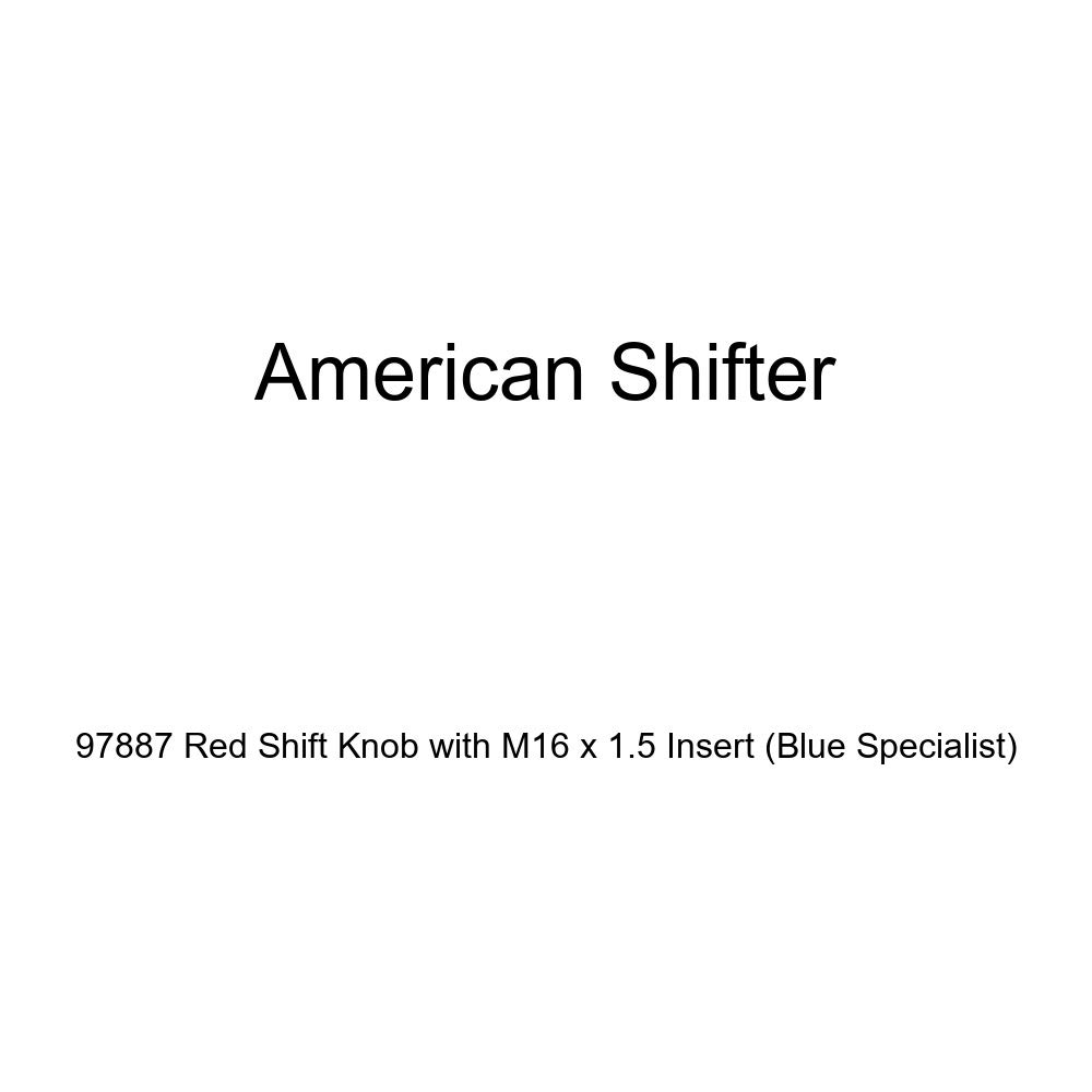 Blue Specialist American Shifter 97887 Red Shift Knob with M16 x 1.5 Insert