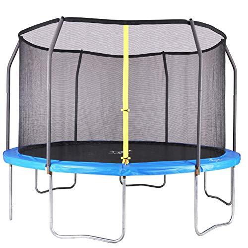 Aromzen-12-Foot-Trampoline-with-Safety-Enclosure-Blue