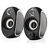 TuparGo DX18 USB Powered Computer Speakers with Headphone Jack and Volume Control,10W Peak Power Apply to Any 3.5mm Port-Equipped Media Players