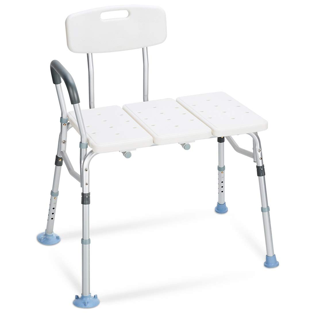 OasisSpace Tub Transfer Bench 400 lb - Heavy Duty Bath & Shower Transfer Bench - Adjustable Handicap Shower Chair with Reversible Backrest Medical Bathroom Aid for Disabled, Seniors, Bariatric(400lbs) by OasisSpace