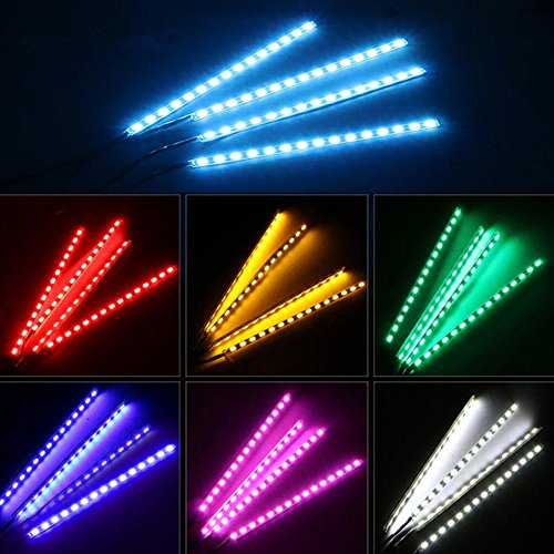 Car led strip lights leagway 4pcs 48led bluetooth app controller car led strip lights leagway 4pcs 48led bluetooth app controller interior lights for car aloadofball Images