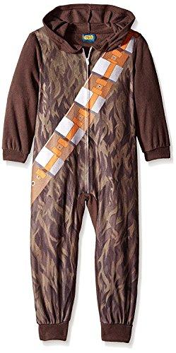 Star Wars Look Like Chewbacca Hooded Boys Union Suit Pajama for Big Boys (8)