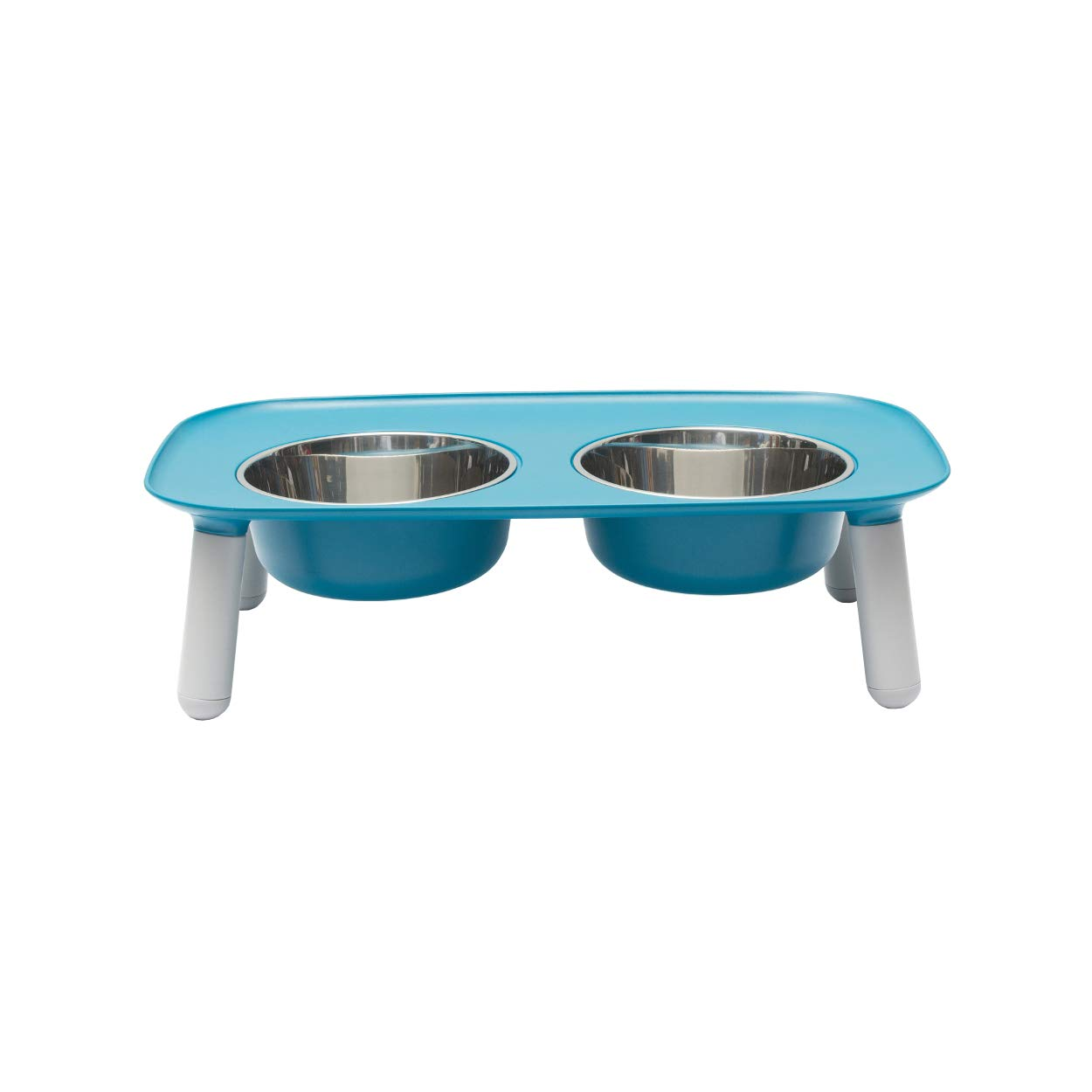 bluee Messy Mutts Elevated Dog Feeder, bluee