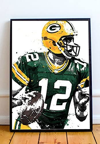 Aaron Rodgers 30x20 Inch Canvas Green Bay Packers NFL Framed Picture