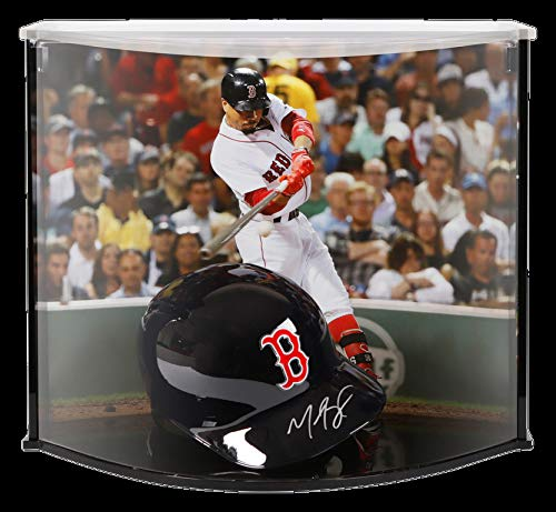 Mookie Betts Autographed Signed Memorabilia Boston Red Sox Replica Batting Helmet In Curve Display With Photo - Certified Authentic