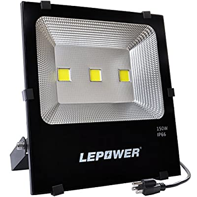 LEPOWER 150W New Craft LED Flood Lights, Super Bright Outdoor Work Lights, 750W Halogen Bulb Equivalent, IP66 Waterproof, 11000lm, 6500K, Daylight White,Floodlight (White Light)