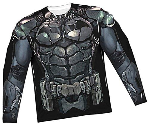 [Costume -- Batman Arkham Knight All-Over Long-Sleeve T-Shirt, Large] (Batman Costumes Arkham Knight)