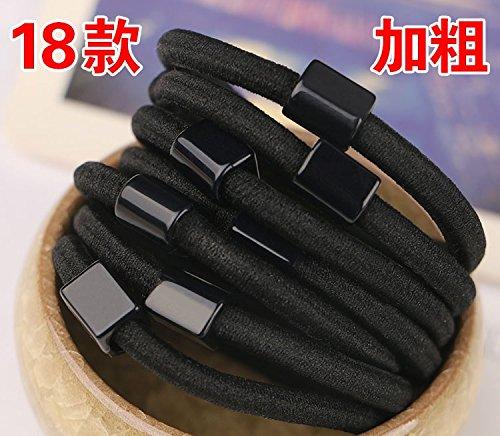 usongs durable black bold tie hair spring ring hair rope rope tie hair rubber band holster Headwear