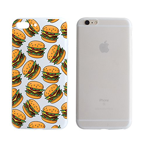 Used, Fast Food Hamburger Pattern Clear Transparent Plastic for sale  Delivered anywhere in Canada