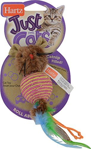Hartz Just For Cats Roll About Mouse Catnip (Rodent Cat Toy)