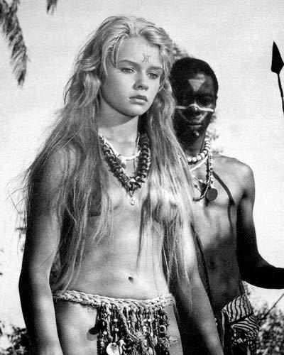 Marion Michael Exotic pin up sexy Liane Jungle goddess 1956 8x10 HD Aluminum Wall Art ()