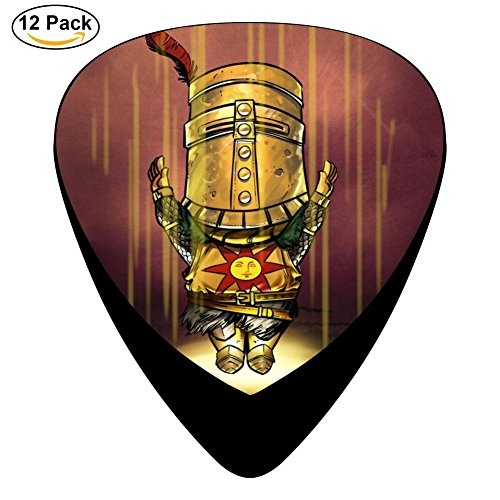Solaire Of Astora Guitar Picks Celluloid Print Womens Complete Assorted 12 Pack For (Solaire Print)