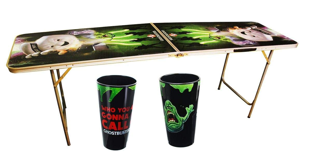 Ghostbusters Party Time Bundle: Pint Glasses & Light-Up Beer Pong Table
