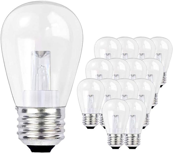 SUNTHIN 15 Pack 0.9W LED Light Bulbs for Home Lighting, Replacement Bulbs for SUNTHIN LED Outdoor String Lights (B07286WDM8, B0757KHM56)