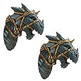 Design Toscano War Dragon Wall Sculpture : Set of Two