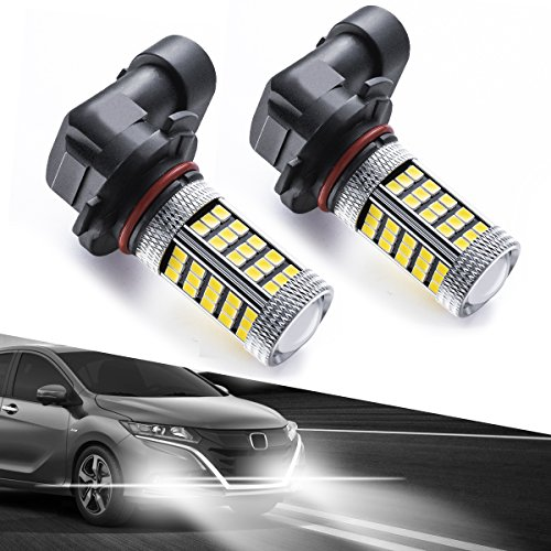 H10/9140/9145 LED Fog Light Bulbs, Marsauto 66 SMD High Power Chipsets High Visibility 6000K White (Pack of 2)