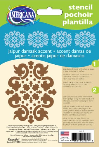 DecoArt 5-Inch-by-7-Inch Stencil Home Decor Series, Jaipur Accent