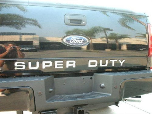 Made in USA! Works with 2008-2016 Ford F250/F350 Letter Super Duty Tailgate Molding Trim 9PC