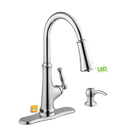 Glacier Bay Touchless Single-Handle Pull-Down Sprayer Kitchen Faucet ...