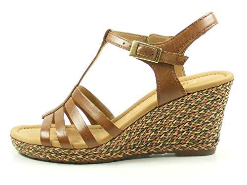 Gabor Wedged Sandal - Jesmond 82.826 Brown D1rIzgxXqz