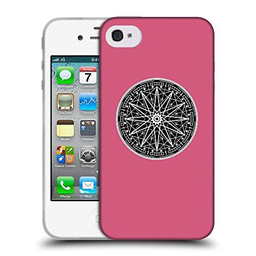 GoGoMobile Coque de Protection TPU Silicone Case pour // Q08330614 Mystique occulte 12 Rougir // Apple iPhone 4 4S 4G