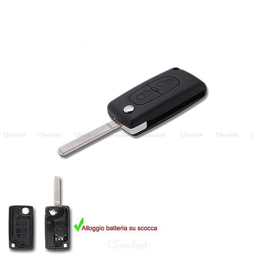 Citroen Carcasa para llave mando a distancia llaves 2 botones ks02no Berlingo C de Crosser C1 C3 C4 C5 C8 Jumper Nemo etc.