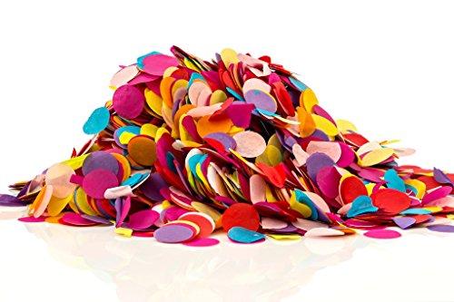 Confetti Kings Biodegradable Paper Confetti Multi Colored Round Circle Confetti 7 Ounce Large Bag Color Confetti