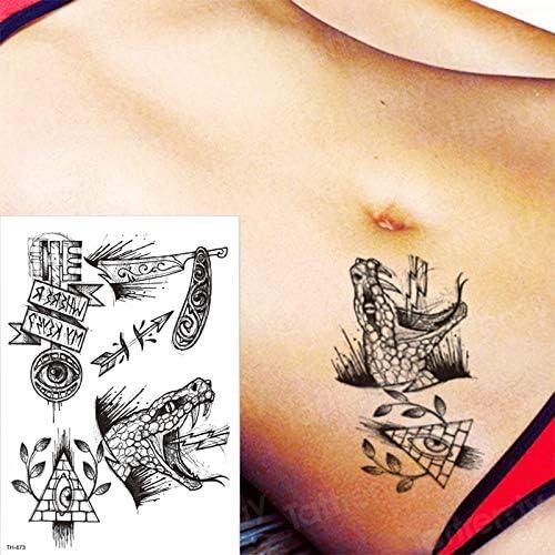Handaxian 3pcsTatuaje Negro pájaro Rosa Tatuaje Ojo Tatuaje ...