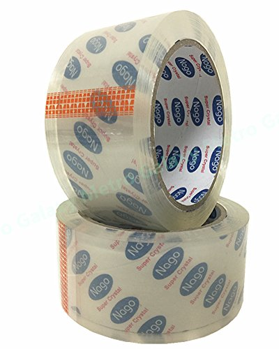 """2"""" inch X 55Yard 2.6 MIL - 24 Roll Carton Packing Tape Sealing Tape by Metrogalaxy, Color: Ultra Clear from Metrogalaxy"""