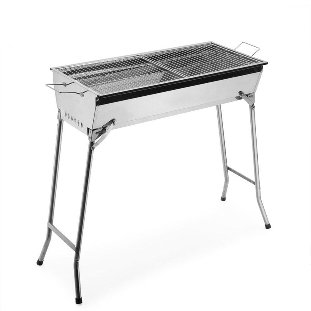 Nach Hause faltbare Grill grill verdickte GRILL Edelstahl Holzkohle Grill Ofen
