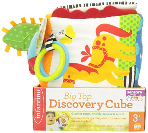 513jttjRXyL - Infantino Big Top Discovery Cube Development Toy