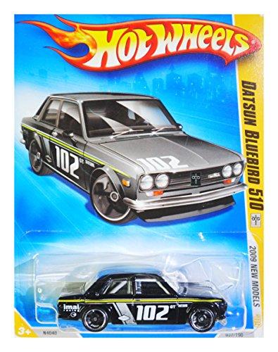 (HOT WHEELS 2009 NEW MODELS 1969 DATSUN BLUEBIRD 510 VARIANT BLACK KMART COLLECTOR DAY CAR #37)