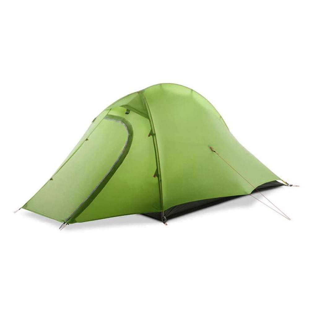 Tienda de campaña doble para acampar al aire libre tienda de campaña para acampar doble al aire libre cuatro estaciones protectora impermeable a prueba de lluvia equipo de juego para la familia