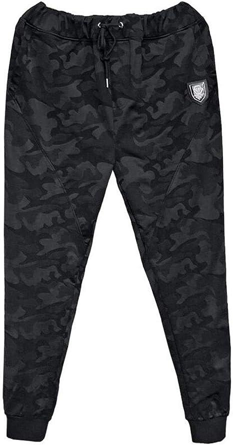 PFSNR Pantalones de chándal for Hombre Pantalones Casuales de pies ...