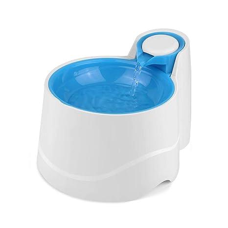 JIAJU Fuente de Agua para Perros Fuente de Agua para Gatos Dispensador de Agua para tazones ...