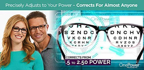 One Power Readers - AS SEEN ON TV! - Read Small Print and Computer Screens - no Changing Glasses - Flex Focus Optics - New!! (Adjustable Vision Glasses As Seen On Tv)