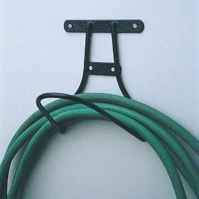 Simple Quality Garden Hose Hanger Solid Steel Black Loop (Best Quality Garden Hose)