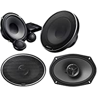 KENWOOD EXCELON KFC-X694 KFCX694 6X9 2-WAY COAXIAL CAR STEREO SPEAKER 600 WATTS With Kenwood Excelon XR-1700P 6-3/4 component speaker system also fits 6-1/2
