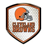 NFL Cleveland Browns Team Shield Automobile Reflector