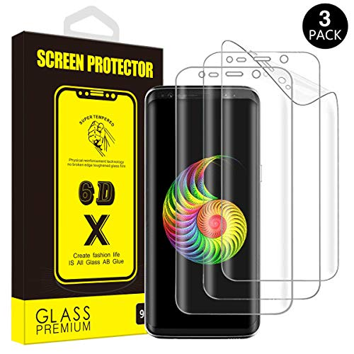 Galaxy S9 Plus Screen Protector, [3-Pack] Yoyamo Full Screen Coverage 3D PET HD [NOT Glass] [Anti Scratch] Screen Protector Film for Samsung Galaxy S9 Plus, Case Friendly