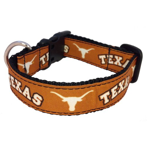All Star Dogs NCAA Texas Longhorns Dog Collar, Texas Orange, X-Small