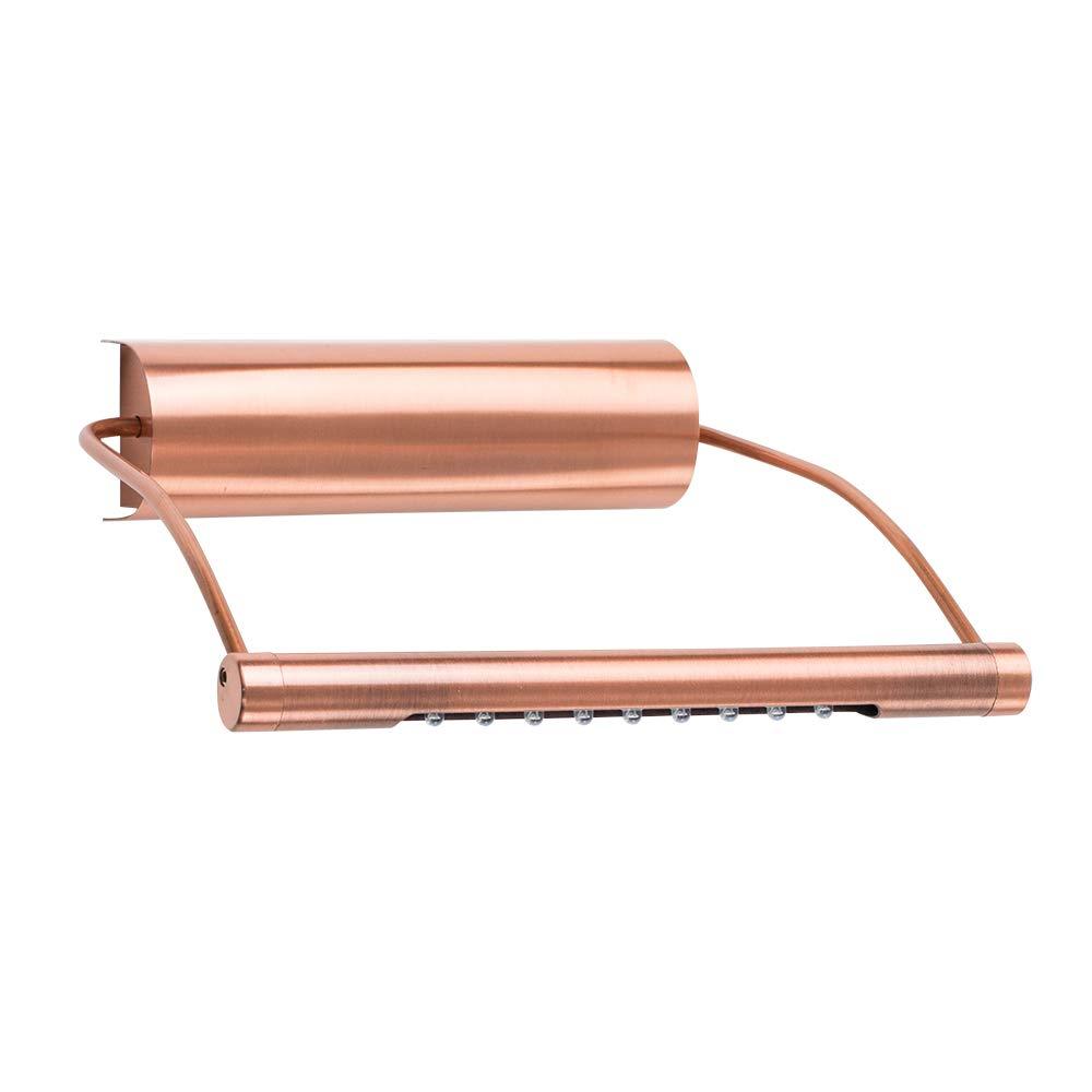 MiniSun – Moderne, batteriebetriebene und einstellbare Wandleuchte mit einem kupferfarbigen Finish mit integrietem LED-Leuchtmittel für Bilder – Wandlampe MiniSun – Moderne