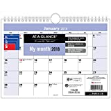 """AT-A-GLANCE Monthly Desk / Wall Calendar, QuickNotes, January 2018 - December 2018, 11"""" x 8"""", Wirebound (PM5028)"""