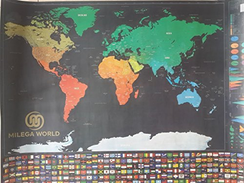 Scratch off the world map with flags including scratching import scratch off the world map with flags including scratching tool the best gift milega gumiabroncs Image collections