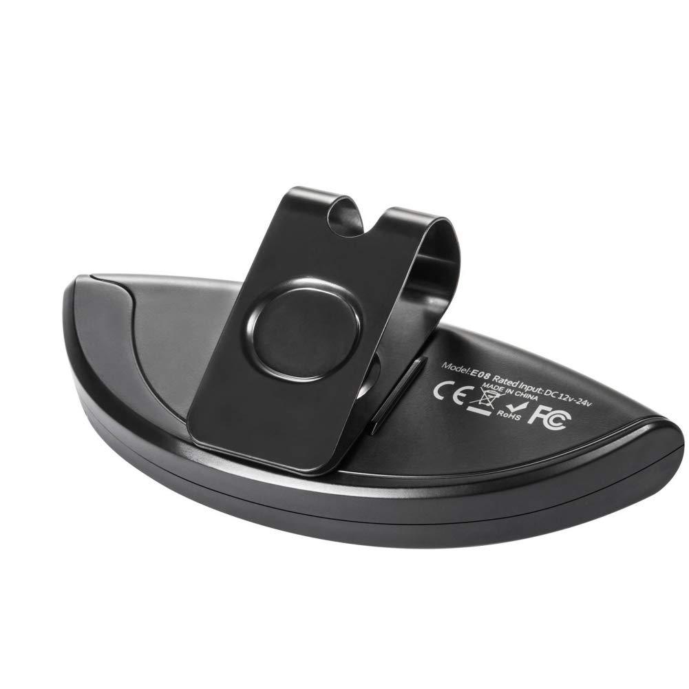 Kfz Freisprecheinrichtung, slopehill Auto Bluetooth Freisprechanlage Lautsprecher für Sicheres Fahren im Gespräch, Car-Kit für Sonnenblende und Luftauslass Musik GPS Unterstützung