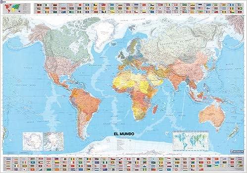 Mapa en tubo El Mundo Mapas en tubo y plastificados Michelin ...