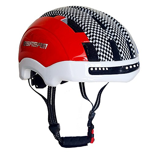 ESASAM Adult Cycling Bike Helmet Specialized for Men Women Safety Protection Impact Resistance Ventilation for Multi-Sports Cycling Skateboarding Scooter Roller Skating (Red and Blue, Medium)